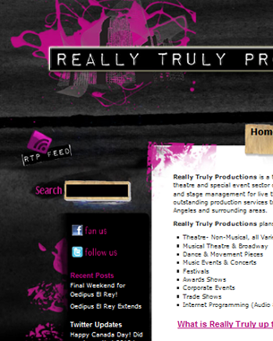 Really Truly Productions – Website