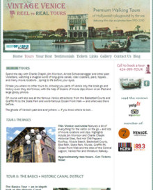 Vintage Venice Tours – Website
